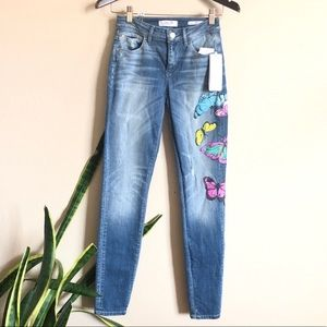 Guess || $152 Butterfly Mid Rise Denim Jeans